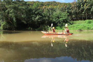 kayaking, the hiker laos, luang namtha, northern laos, the hiker, river, jungle